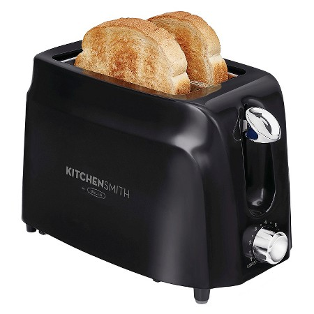 The Kitchen Smith by BELLA 2 Slice Toaster sells for $11.99 at Target. This does not print designs on toasts.