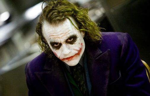 "Heath Ledger as the Joker, ""The Dark Knight"""