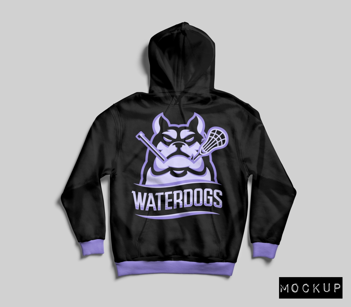 Merch Mockups for the PLL WaterDogs
